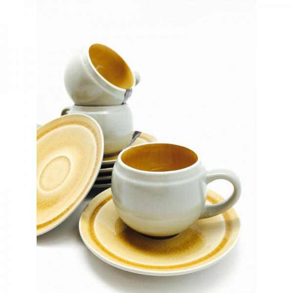 Devnow Stoneware Chocolatier Cup and Saucer Set