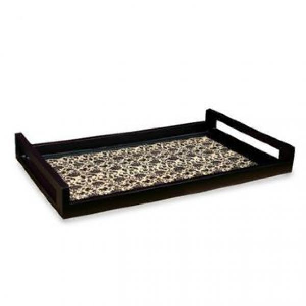 Ratios Floral Leather Tray (Medium)